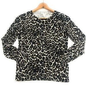 J. Crew Womens Animal Print Light Sweater, M